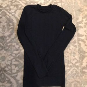 Athleta Navy Running Sweater
